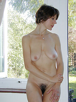 incomparable hairy moms stripping