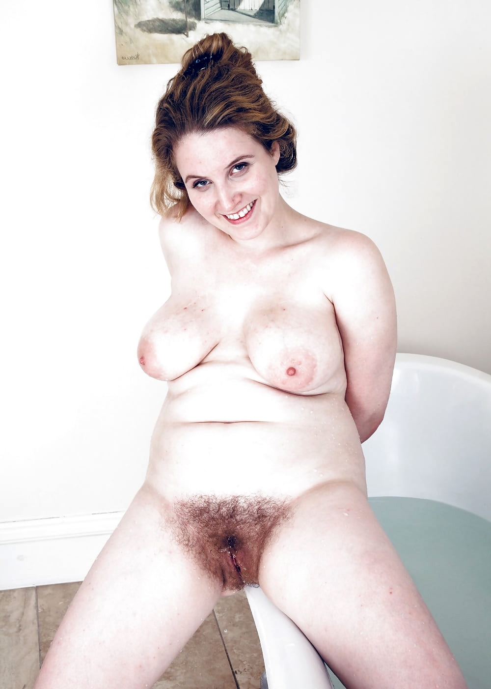 nice broad in the beam tits hairy pussy